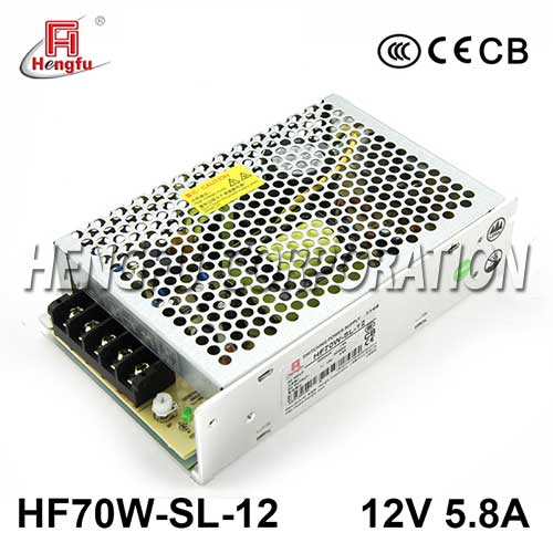 亚博体育app在线下载电源HF70W-SL-12宽电压输入直流DC12V5.8A单路输出开关电源