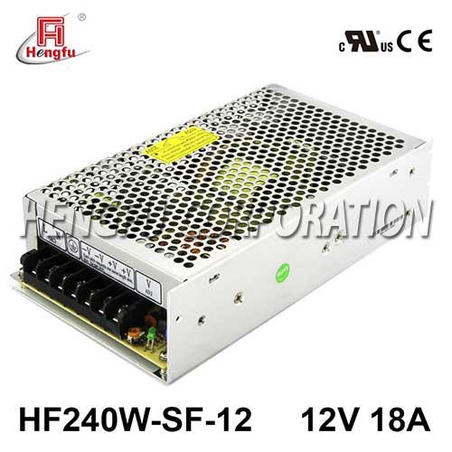 HF240W-SF-12亚博体育app在线下载电源110/220VAC转DC12V18A单路输出直流开关电源