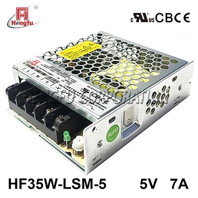 亚博体育app在线下载电源HF35W-LSM-5宽电网直流DC5V7A单路输出超薄型开关电源