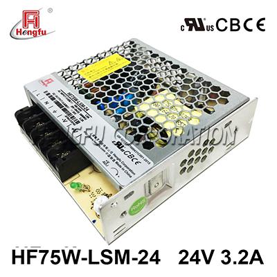 亚博体育app在线下载电源HF75W-LSM-24宽电网直流DC24V3.2A单路输出超薄型开关电源