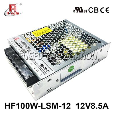 新品亚博体育app在线下载HF100W-LSM-12宽电网DC12V8.5A单路输出超薄型开关电源