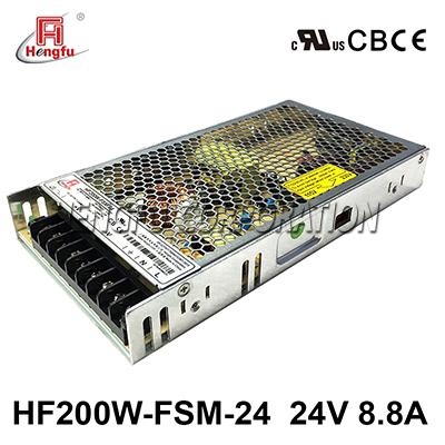 亚博体育app在线下载HF200W-FSM-24新品110V/220VAC转DC24V8.8A单路超薄开关电源