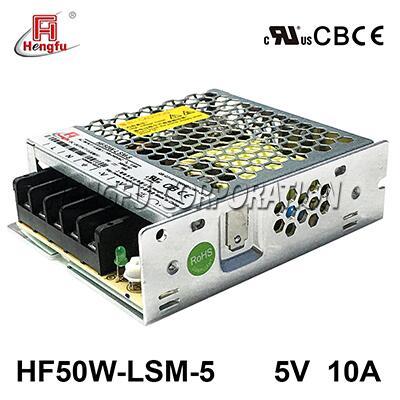 亚博体育app在线下载电源HF50W-LSM-5宽电网直流DC5V10A单路输出超薄开关电源
