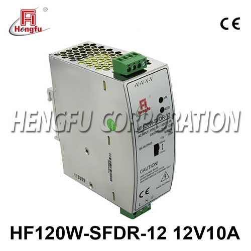 亚博体育app在线下载电源HF120W-SFDR-12开关电源DC12V10A单路输出宽电网导轨电源