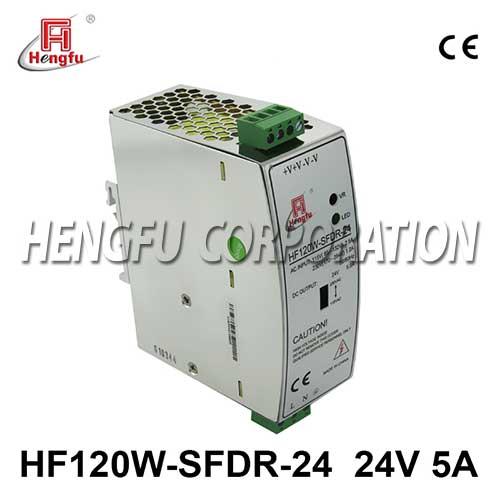 亚博体育app在线下载电源HF120W-SFDR-24开关电源DC24V5A单路输出宽电网导轨电源