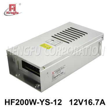亚博体育app在线下载电源HF200W-YS-12防雨电源AC220V转DC12V16.7A直流开关电源