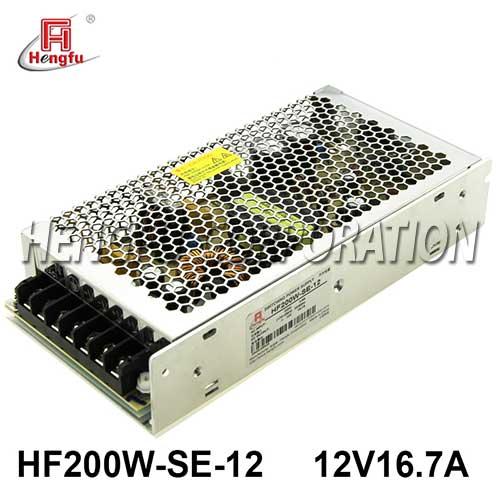 新品HF200W-SE-12亚博体育app在线下载电源220V转直流DC12V16.7A单路输出开关电源