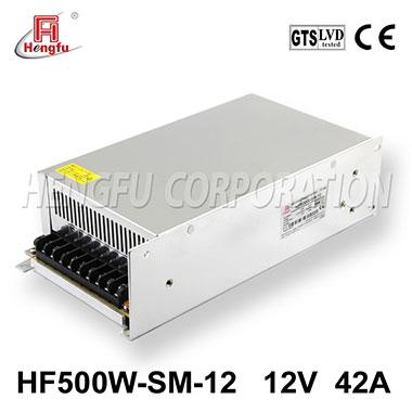 亚博体育app在线下载电源HF500W-SM-12直流DC12V42A单路小体积大功率开关电源