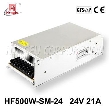 亚博体育app在线下载电源HF500W-SM-24官方直销DC24V21A单路小体积大功率开关电源