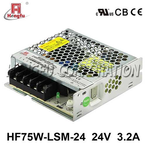 贝博足彩电源HF75W-LSM-24宽电网直流DC24V3.2A单路输出超薄型开关电源