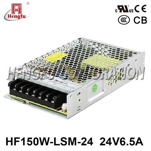 新品贝博足彩HF150W-LSM-24宽电网DC24V6.5A单路输出超薄型开关电源