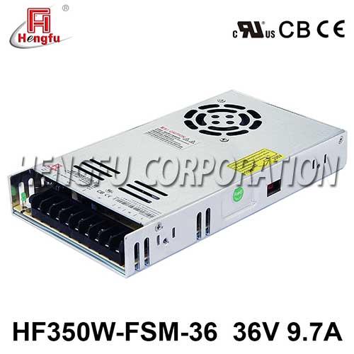贝博足彩HF350W-FSM-36新品110V/220VAC转DC36V9.7A单路超薄型开关电源