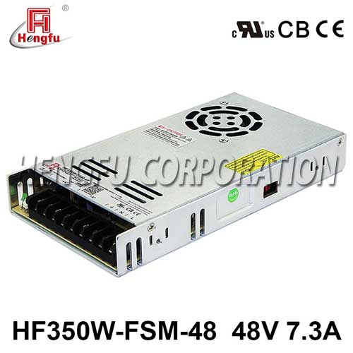 贝博足彩HF350W-FSM-48新品110V/220VAC转DC48V7.3A单路超薄型开关电源