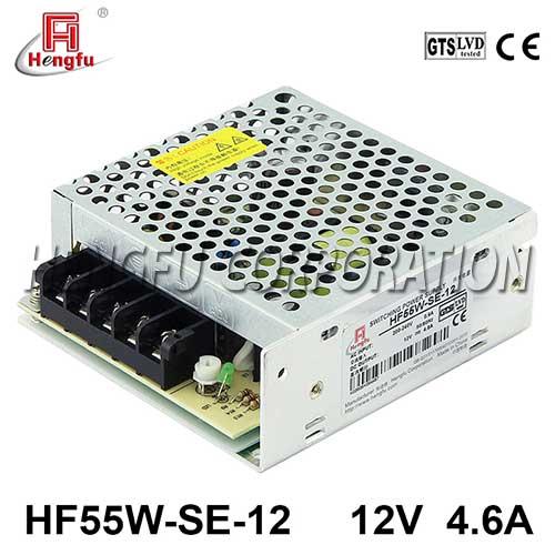 贝博足彩电源HF55W-SE-12直流DC12V4.6A单路输出经济型开关电源可定制