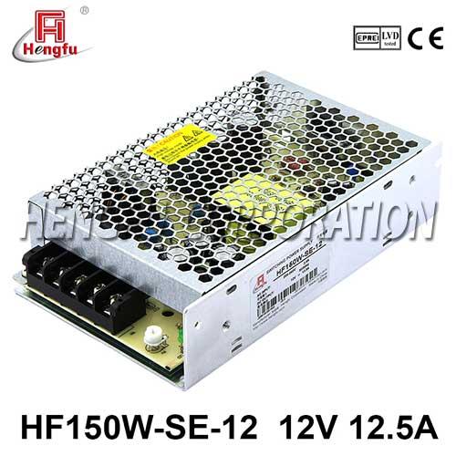 新品HF150W-SE-12贝博足彩电源AC220V转直流DC12V12.5A小体积开关电源