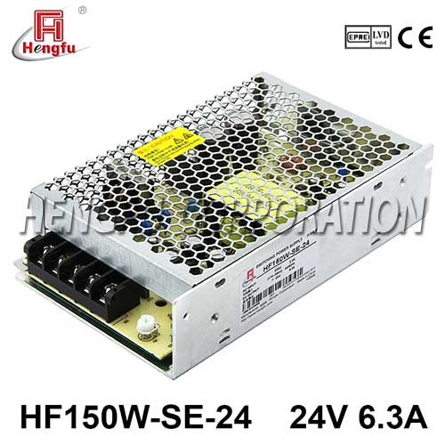 新品HF150W-SE-24贝博足彩电源AC220V转直流DC24V6.3A小体积开关电源
