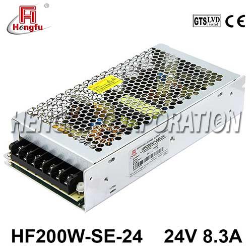 新品HF200W-SE-24贝博足彩电源220V转直流DC24V8.3A单路输出开关电源