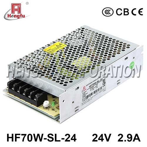 贝博足彩电源HF70W-SL-24宽电压输入直流DC24V2.9A单路输出开关电源