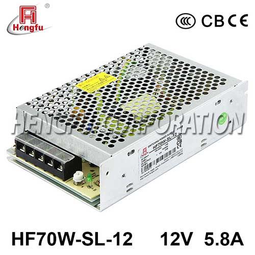 贝博足彩电源HF70W-SL-12宽电压输入直流DC12V5.8A单路输出开关电源