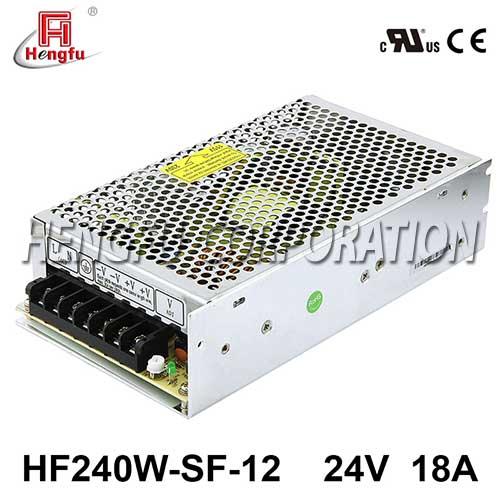 HF240W-SF-12贝博足彩电源110/220VAC转DC12V18A单路输出直流开关电源