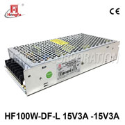 HF100W-DF-L贝博足彩电源110V/220VAC转DC15V3A-15V3A两路开关电源