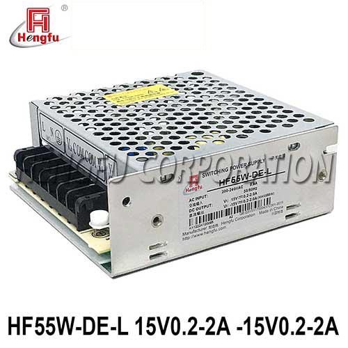贝博足彩HF55W-DE-L直流DC15V0.2-2A-15V0.2-2A正负15V激光机开关电源