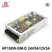HF150W-DM-D贝博足彩电源220V转DC24V5A12V3A两路输出小体积开关电源