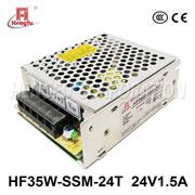 贝博足彩电源HF35W-SSM-24T宽电网直流DC24V1.5A单路输出小薄开关电源