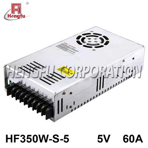 HF350W-S-5贝博足彩电源DC5V60A单路输出监控安防LED开关电源可定制