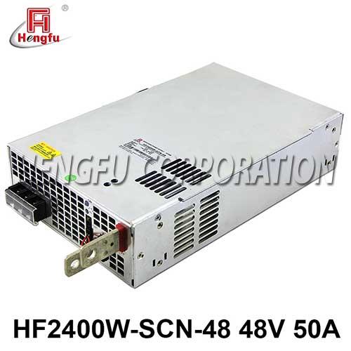 贝博足彩电源HF2400W-SCN-48带并联PFC故障检测功能DC48V50A开关电源