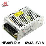 贝博足彩电源HF20W-D-A直流稳压DC5V3A5V1A双路输出开关电源厂家直销