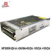 贝博足彩HF300W-QV-A开关电源DC+24V9A+15V2A -15V2A +5V2A激光设备电源