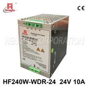 贝博足彩电源HF240W-WDR-24开关电源DC24V10A单路输出高电网导轨电源