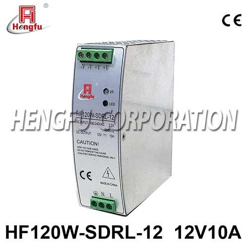 新品贝博足彩HF120W-SDRL-12导轨电源90-264VAC转DC12V10A开关电源