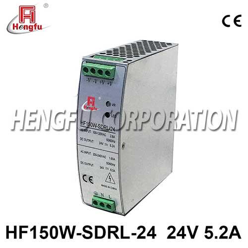 新品贝博足彩HF150W-SDRL-24导轨电源90-264VAC转DC24V6.5A开关电源